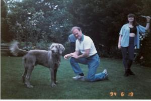 Dad, Weimeraner & My Sister